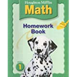 "Houghton Mifflin Mathmatics: Homework Book Consumable Level 1 (Hm Math 2005) (Paperback) newly tagged ""math"""