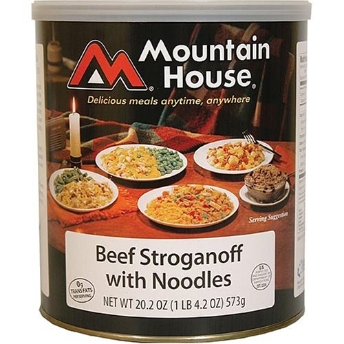 Mountain House canned food - 25 year long shelf life