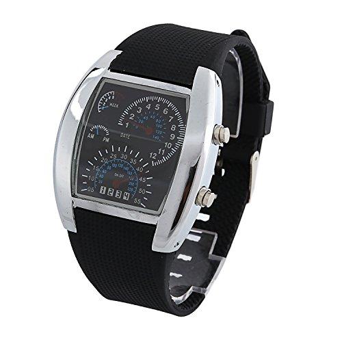 Dayan Flash Digital Led Mens Sports Military Watch Wrist Watch Speedometer Style