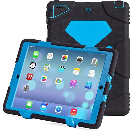 iPad Air 2 Case, ACEGUARDER New Design [Kidsproof] [Shockproof] [Scratchproof] [Drop Resistance] Super Protection Case with Stand for iPad Air 2 (Black Blue) (Tie Dye Whistle compare prices)
