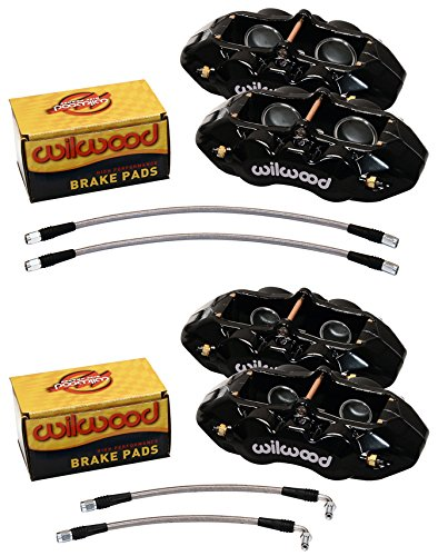 WILWOOD BLACK BRAKE CALIPER, PAD, & LINE KIT,