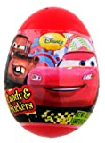 Disney CARS SURPRISE egg in a plastic shell with toy and stickers inside- 1 ct- IMPORTED from EUROPE