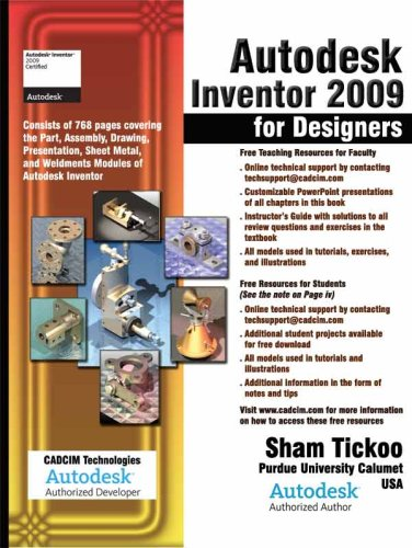 Autodesk Inventor 2009 for Designers - CADCIM technologies - 1932709495 - ISBN:1932709495
