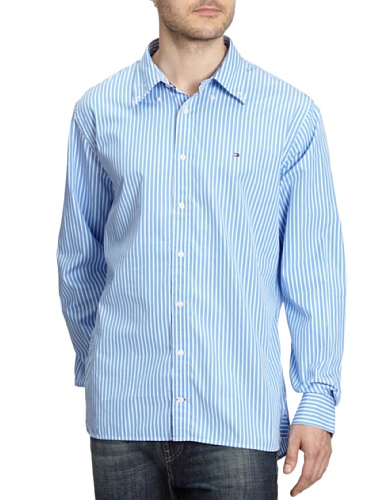 Tommy Hilfiger Men's Casual Shirt S Blue