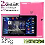 Matricom G-Tab Nero CX2 - Dual Core Android Tablet PC (7-inch, Wi-Fi, Rockchip Dual Core, 2014 Model) [Pink]