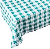 (リッチェ) Ricce 北欧 チェック 柄 テーブルクロス マイクロファイバークロス セット 140×180cm 長方形 布製 アウトドア ピクニック 店舗 (グリーン 緑色, 140×180cm)