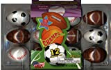 12 Sports Themed Easter Eggs Filled with Candy (Baseball, Football, Basketball, Soccer) (Pack of 2) (24 Eggs Total)