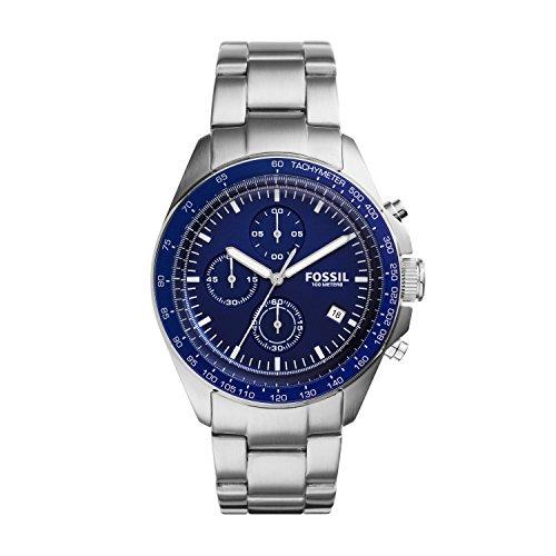 Fossil CH3030 - Reloj para hombre, color azul / plateado