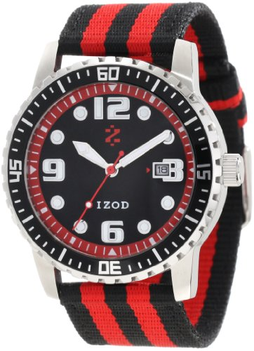 IZOD Men's IZS3/9 RED Sport Quartz 3 Hand Watch