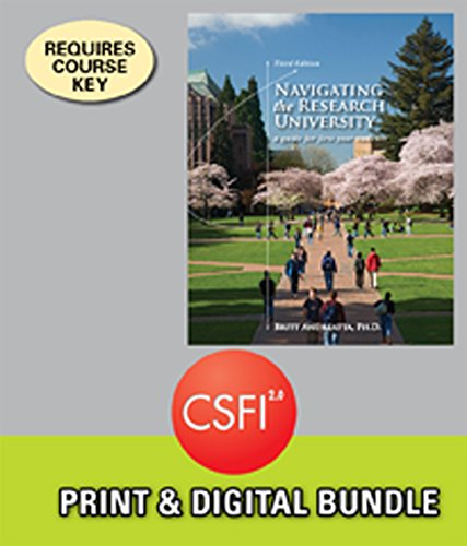 Bundle: Navigating the Research University: A Guide for First-Year Students, 3rd + CSFI, 1 term (6 months) Printed Acces
