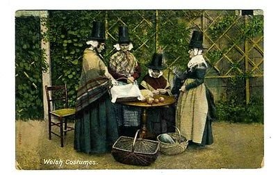 [Welsh Costumes Postcard 1910 Frith Series] (1910 Costumes)