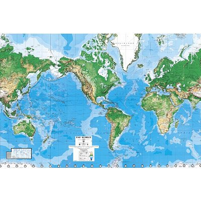world map paper wall mural coconuas229