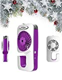 Outdoor Fans for Evaporative Cooling - Water Mister - Hand Held Misting Fan Humidifier for Cool Mist (Purple) by JZK