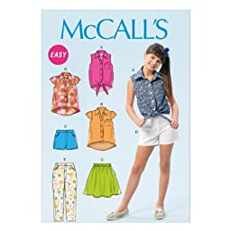 McCall Pattern Company M6951 Girls\'/Girls\' Plus Tops, Skirt, Shorts and Pants, Size PLS \