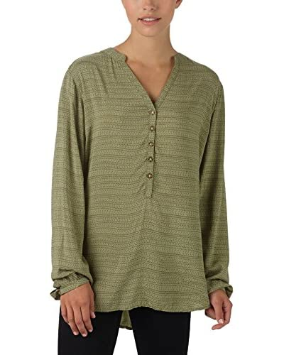 Burton Bluse Vetiver Hatch Print