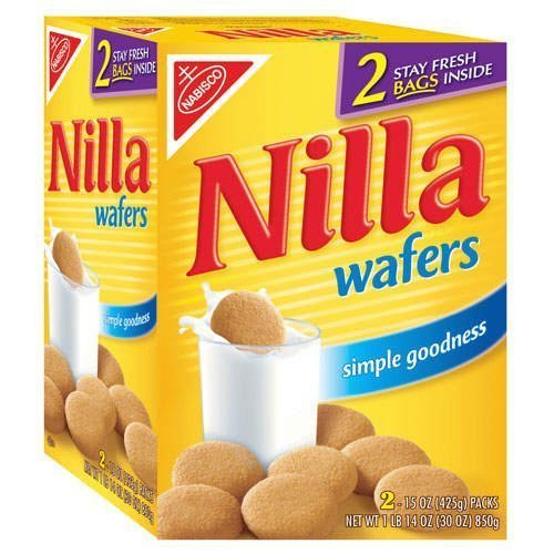 Nabisco Nilla Wafers 30 oz - Two 15 oz pck box(Pack of 2) read four bean salad can 15 oz  pack of 24