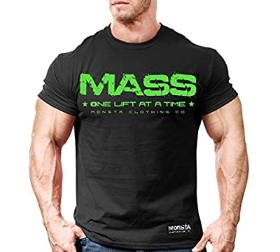 Monsta Clothing Co. Men's MASS: One Lift at a Time (TEE61) T-shirt