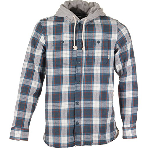 Camicia Maniche Lunghe Con Cappuccio Vans Lopes Midnight Blu Scuro-Marshmallow (M , Blu Scuro)