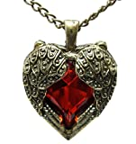 DaisyJewel Vintage Ruby Red Heart Angel Wings of Love Pendant Necklace