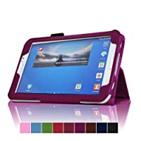 Uhome 2014 Style Pu Leather Folio Smart Case Cover for Samsung Galaxy Tab 3 7.0 P3200 / P3210 / T210 / T211 7 Inch Tablet from Uhome