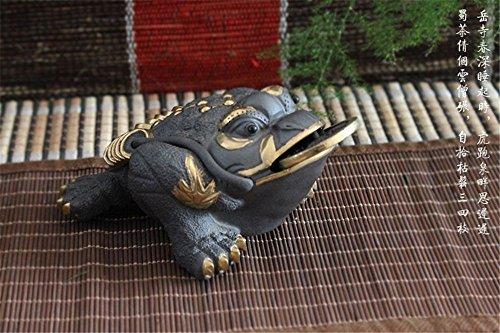 Yummy Chinese® Chinese Yixing Zisha Handmade Kungfu Earthenware Cha Chong Tea Favour Pet Jinchan 3 Legs Golden Toad Series 2 (No.33053)