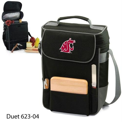 NCAA Washington State Cougars Duet Insulated Wine and Cheese Tote with Team Logo