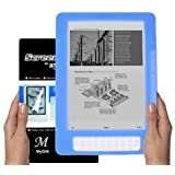 Amazon Kindle DX 9.7 inch E-Book Reader (BLUE) Silicone Skin Rubber Case + LCD Screen Protector ~ MyGift