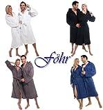 Bademantel Herren Damen Frottee Baumwolle mit Kapuze F�hr Bild