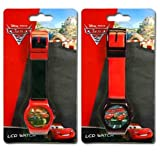 2pk Disney Cars 2 Digital LCD Watch For Kids