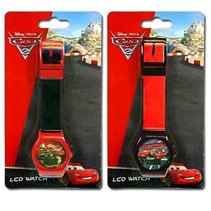 Amazon.com: 2pk Disney Cars 2 Digital LCD Watch For Kids: Watches