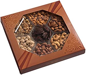 Holiday Freshly Roasted Gourmet Food Nuts Gift Basket, 7 Different Nuts
