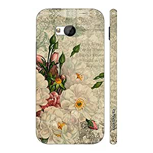 Enthopia Designer Hardshell Case WHITE FLOWER TOUCH Back Cover for HTC One M7
