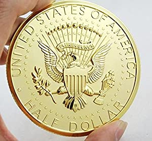 Replica Jumbo 3 inch Gold Half Dollar Coin