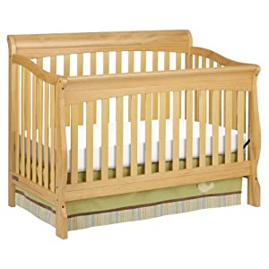 Delta Children 39 S Products Silverton Sleigh 4 In 1 Crib Natural Convertible Cribs