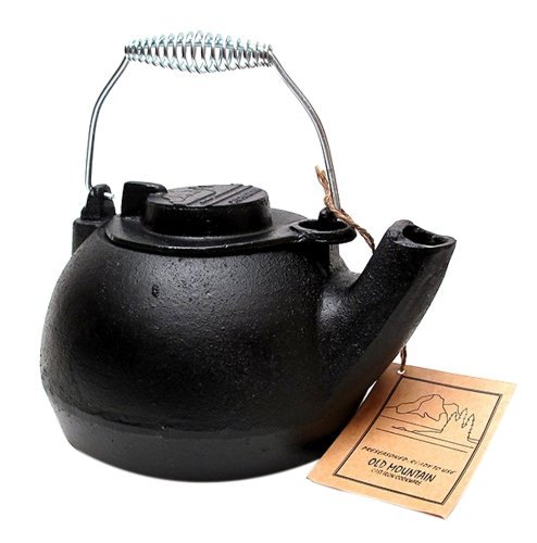 Iwgac Fry Saute Grill Roast Old Mountain Cast Iron Pre-seasoned Tea Kettle by IWGAC