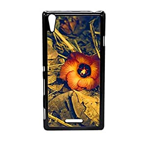Vibhar printed case back cover for Sony Xperia T3 BrownFlower