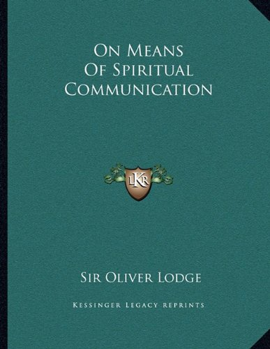 On Means of Spiritual Communication