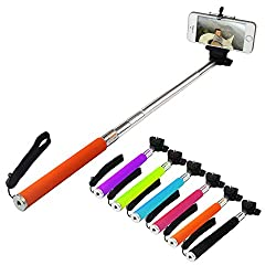 DMG Extendable Selfie Stand Stick for Mobiles / Cameras + Bluetooth Clicker Remote(Color May Vary)
