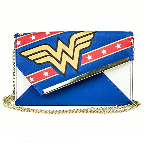 Wonder Woman Wedge Envelope Wallet with Chain