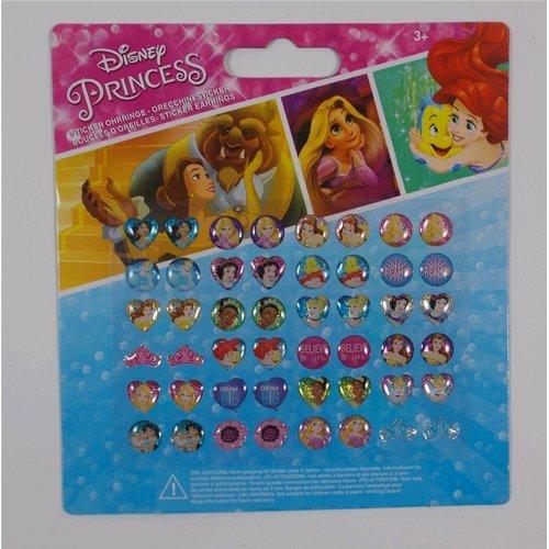Joy Toy 63209Disney Princess adhesivo pendientes sobre tarjeta de plato de soporte
