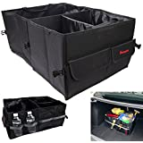 Wawacycles Premium Trunk Organizer - Best Car Organizer for all Cargo, 600D Oxford Fabric Multipurpose Auto Car SUV Organizer Folding Collapsible, Great for Travel Vocation Trip Camping