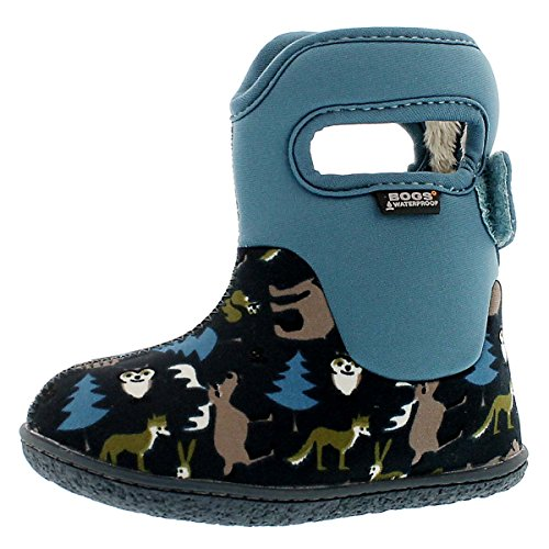 Bogs Baby Classic Woodland Waterproof Insulated Rain Boot (Infant/Toddler/Little Kid/Big Kid), Navy Multi,7 M US Toddler