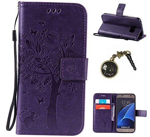 PU Cuir Coque Strass Case Etui Coque étui de portefeuille protection Coque Case Cas Cuir Swag Pour( Samsung Galaxy S7 )+Bouchons de poussière (6AD)
