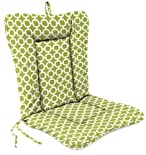 Knife Edge Wrought Iron Chair Cushion In Hockley Pear