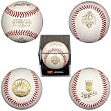 Rawlings WSBB15DL-R 2015 World Series Dueling Teams Baseball with Acrylic Display Case featuring New York Mets and Kansas City Royals Logos