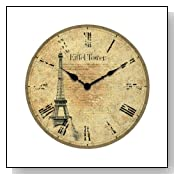 Decorative Eiffel Tower Vintage Wall Clock