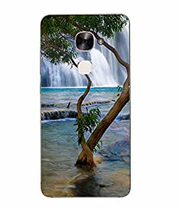Snazzy Nature Printed Green Hard Back Cover For Letv Le Max 2
