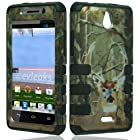 Brown Hunter Tuff Shield Hybrid Gel Case for Huawei H881C Ascend Plus + Accessory Kit