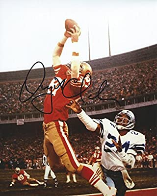 Dwight Clark, San Francisco 49ers, the Catch, Signed, Autographed, 8x10 Photo, a Coa with the Proof Photo of Dwight Signing Will Be Included,