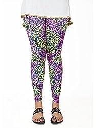 Sxy! Women's Blended Leggings (SXGZ14037_Pink-Yellow_Small)